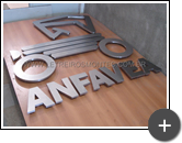 Letreiro em aço inox escovado para empresa Anfavea - Associação dos fabricantes Automotores