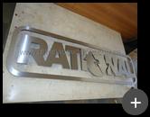 Letreiro com letras de  inox escovado para empresa Rational