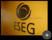 Empresa ESEG : Produção das letras em aço inox escovado para o letreiro com logotipo inovador