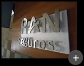 Letreiro em aço inox escovado para empresa Pan Seguro