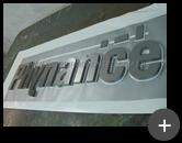Letreiro de inox para empresa Phynance