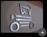 Logotipo em formato de carro fabricado com material de aço inox escovado para empresa Anfavea