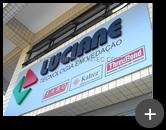 Letreiro para a indústria Luciane - tecnologia em vedação fabricado e instalado