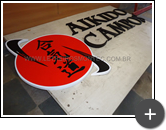 Letra caixa da academia de Aikido em aço galvanizado
