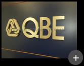 Letra caixa de latão polido dourado fabricado para empresa QBE Brasil Seguros