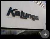 Letreiro em aço galvanizado - Kalunga unidade São Paulo - SP