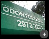 Letreiro de aço para clínica de Odontologia