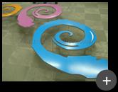 Letreiro: Logotipo em aço galvanizado colorido