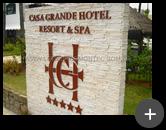 Letreiro produzido com material em aço galvanizado para o hotel - Casa Grande Hotel