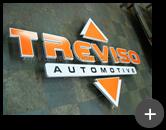 Letreiro em aço galvanizado para empresa Treviso