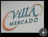 Letreiro galvanizado para Villa Mercado