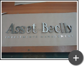 Letreiro para empresa de investimento Asset beclly  produzido com material nobre de aço inox polido