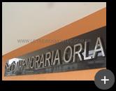 Letreiro de aço inox polido para empresa Marmoraria orla