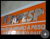 Letreiro da Fapesp - Fundação de Amparo À Pesquisa do Esado de São Paulo fabricado com material nobre de aço inox polido