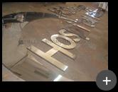 Letreiro de inox polido em alto brilho para o Hospital Nossa Senhora de Fátima