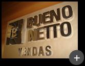 Letreiro de inox para empresa Bueno Netto