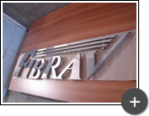 Letreiro de inox para empresa Fibrav