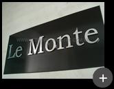 Letreiro de inox para empresa Le monte