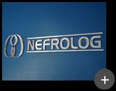 Letreiro de inox para empresa Nefrolog