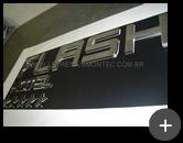 Letreiro de inox para o Hotel Flash