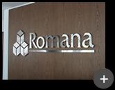 Letreiro da Romana , confeccionado em inox polido com alto brilho