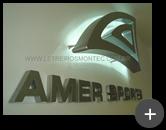 Letreiro com leds para empresa Amer Sports fabricante de artigos esportivos