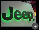 Letreiro para concessionária Jeep com iluminação através de leds