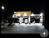 Letreiro iluminado com leds e instalado em posto de combustível