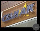 Letreiro luminoso de acrílico e leds para empresa Celmar