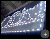 Letreiro para restaurante luminoso em fase de produção para temakeria japonesa com leds