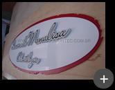 Letreiro de acrílico para clínica de odontologia com pintura