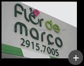 Letreiro para fachada da loja - Flér de Março em São Paulo de aço galvanizado com pintura
