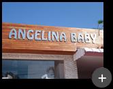 Letreiro para fachada da loja Angelina Baby na cidade de Santo Andre - SP