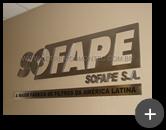 Fabricamos o letreiro para o escritório da fábrica de filtros Sofape