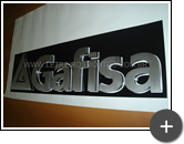 Letreiro para o escritório da construtora Gafisa