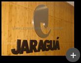 Letreiro instalado no escritório da Indústria Jaraguá
