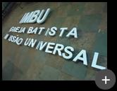 Letreiro para igreja Batista Universal sendo produzido em aço galvanizado com pintura