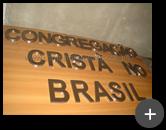 Letras de inox escovado para o letreiro da igreja Congregação Cristã no Brasil