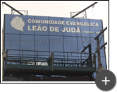 Letreiro para igreja Leão de Judá