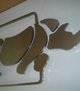 Letreiros personalizados com letra caixa aço inox escovado