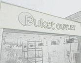 Letreiro para loja de roupas outlet em aço galvanizado