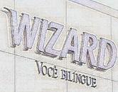 Letreiro Wizard em aço galvanizado